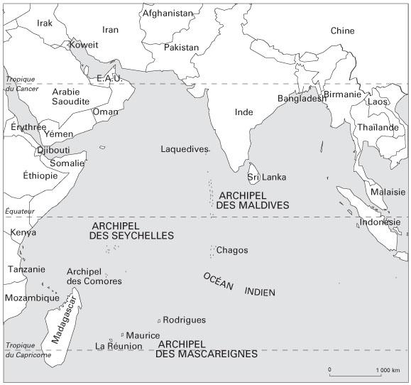 Carte De Locean Indien Occidental.Les Archipels De L Ouest De L Ocean Indien Face A L Erosion