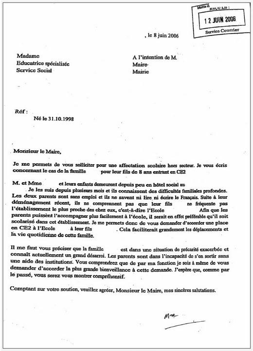 modele lettre derogation lycee Modèle De Lettre De Procuration En Anglais | Covering Letter Example modele lettre derogation lycee