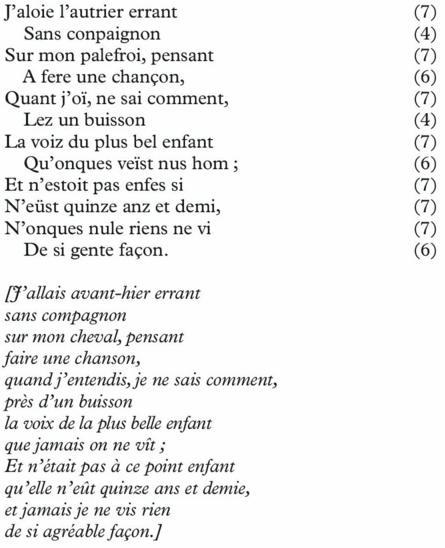 Chapitre Vii La Forme Du Poème Cairninfo