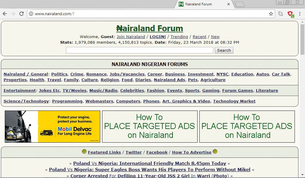 Countering Political Narratives through Nairaland Meme