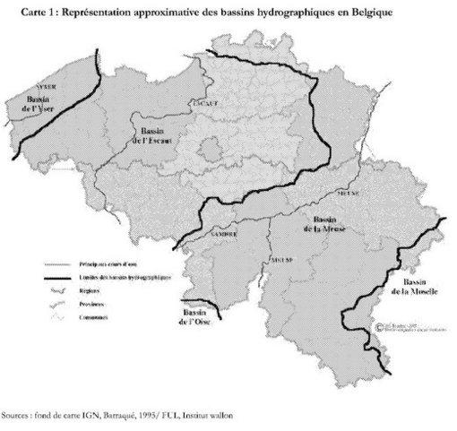 Carte Belgique Fleuves Et Rivieres.La Gestion De L Eau En Belgique Analyse Historique Des