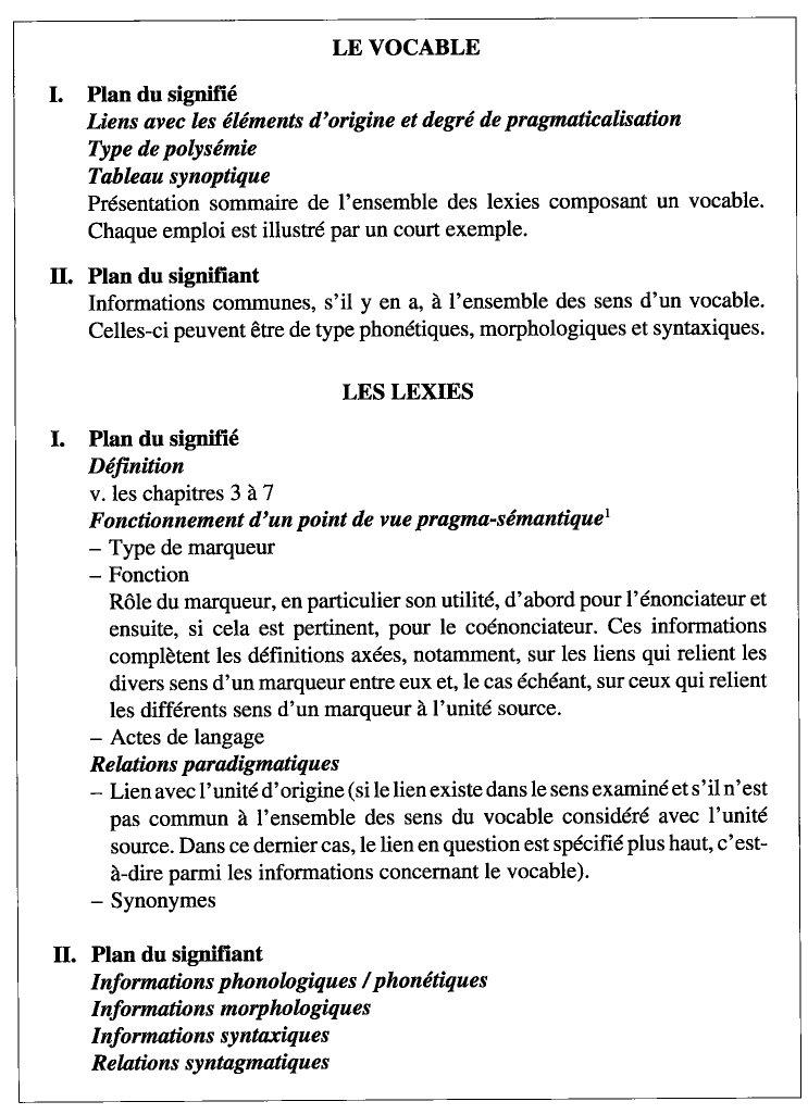 Chapitre 8 De La Sémantique à La Lexicographie Questions