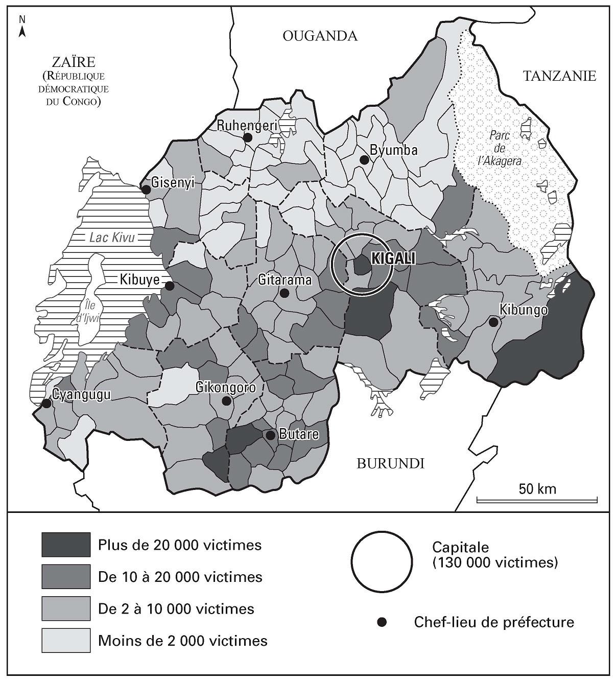 Carte 6 Nombre De Victimes Du Gnocide Par Commune