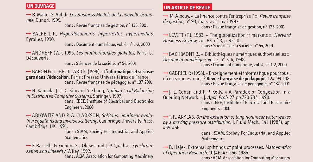 L'usage des références et des notices bibliographiques ...
