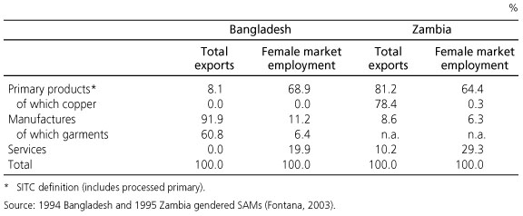 Modelling the effects of trade on women, at work and at home