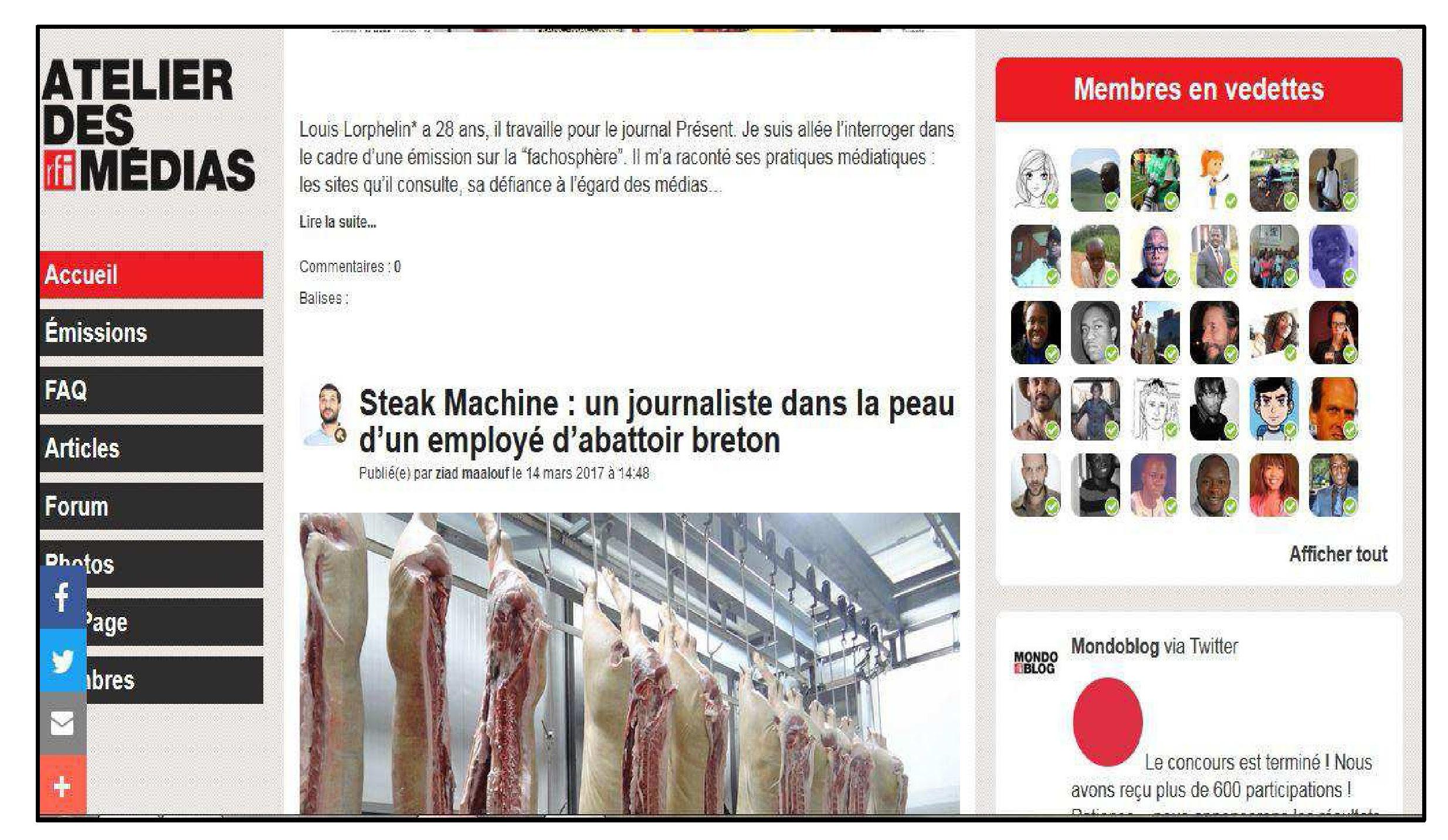 56df248cae3 Figure 2 – Capture d écran de la page d accueil (partie médiane dédiée à la  communauté en ligne)