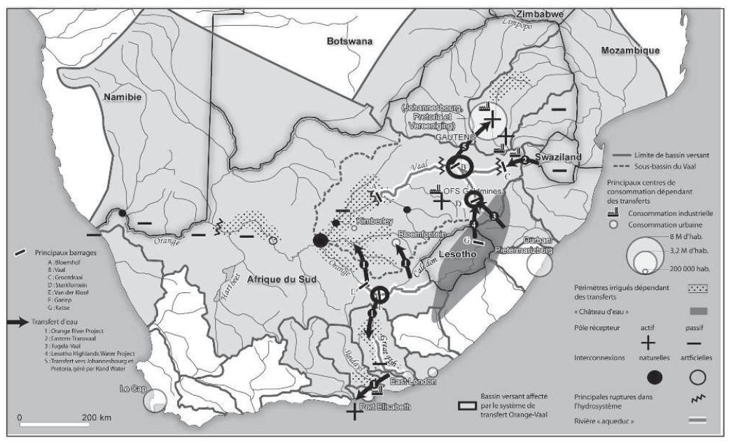Carte Hydrographique De Lafrique Du Sud.Le Complexe Hydropolitique Sud Africain Connexions