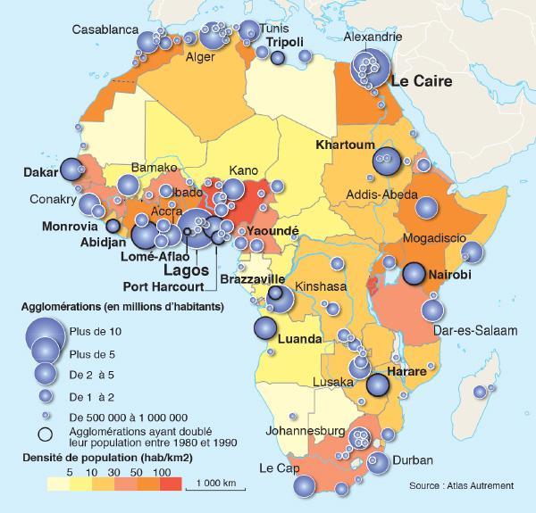 Plus Grands Villes Afrique