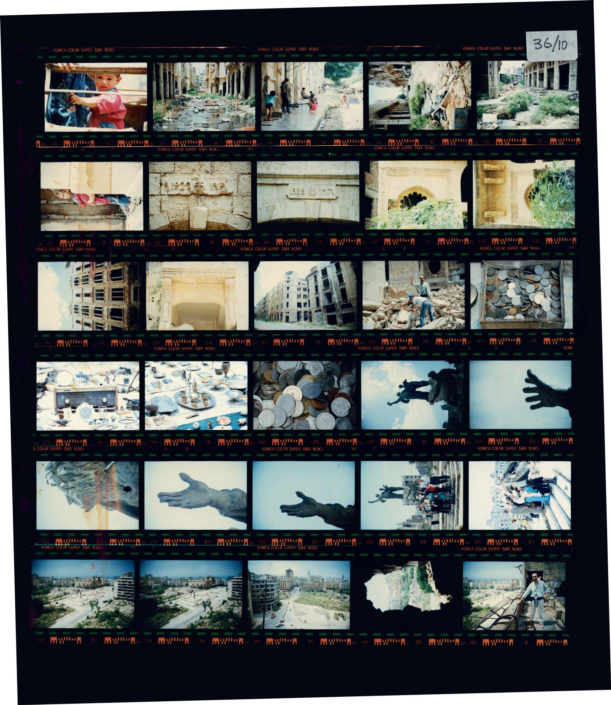 Fig. 1. Une planche contact, sujets divers. Photographies de Mosbah Assi.