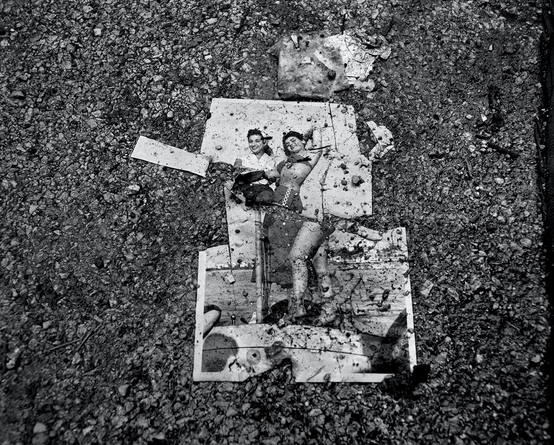 Fouad Elkoury, Beyrouth. Image sur asphalte, 1991.