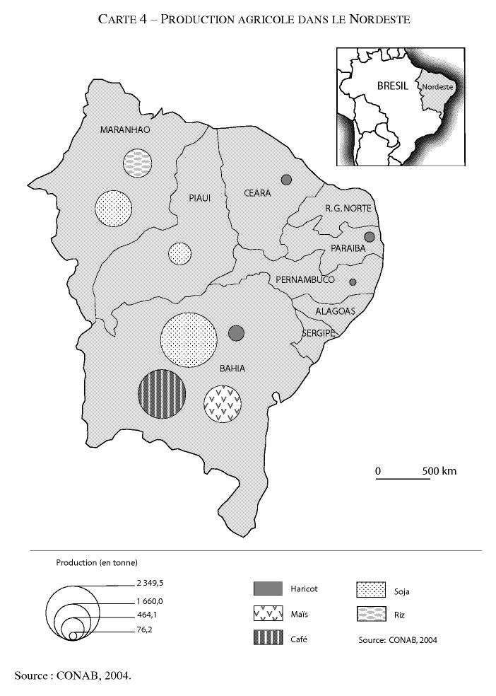 Carte Bresil Sertao.Les Mutations Du Nordeste Du Bresil Cairn Info