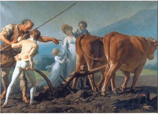 François-André Vincent : La Leçon de labourage 1798 - 213 x 313 cm – huile sur toile – (Bordeaux - Musée des Beaux-Arts)