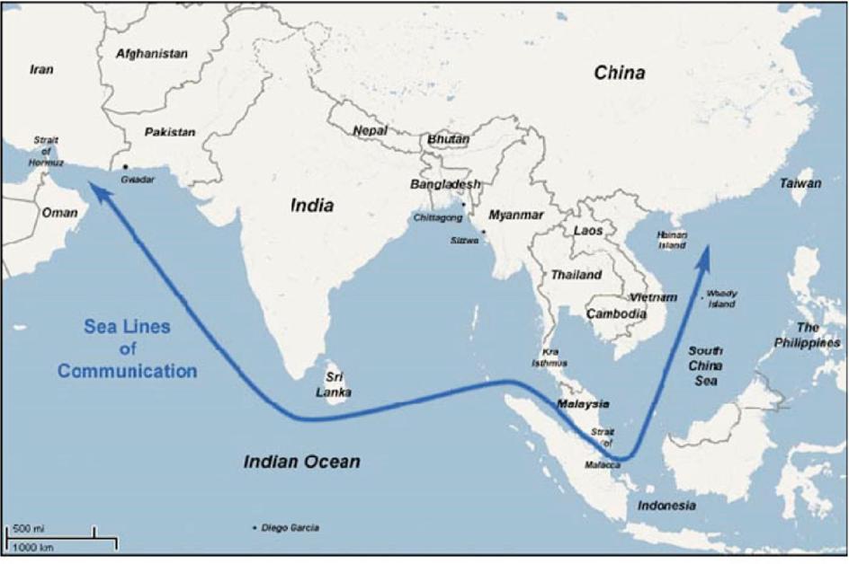 Carte Chine Collier De Perles.La Strategie Chinoise Du Collier De Perles Cairn Info