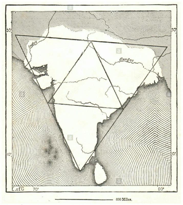 La forme de l'Inde d'après des documents anciens