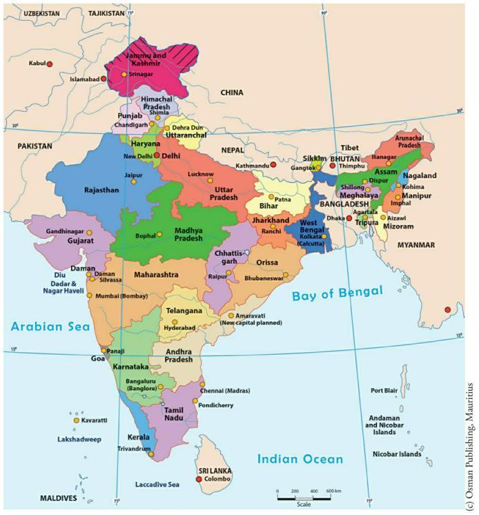 États et territoires de l'Inde