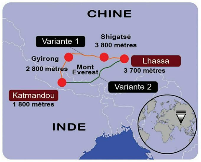 Voie ferrée en projet Chine-Népal