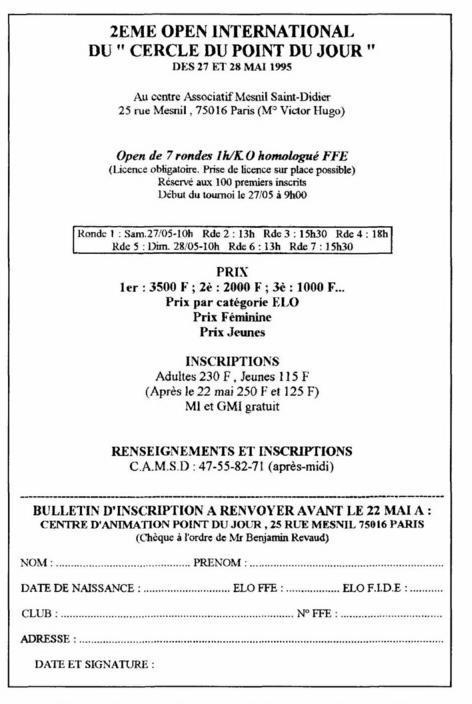 """Une affichette de tournoi d échecs """"opaque"""" 89825dda7fd4"""