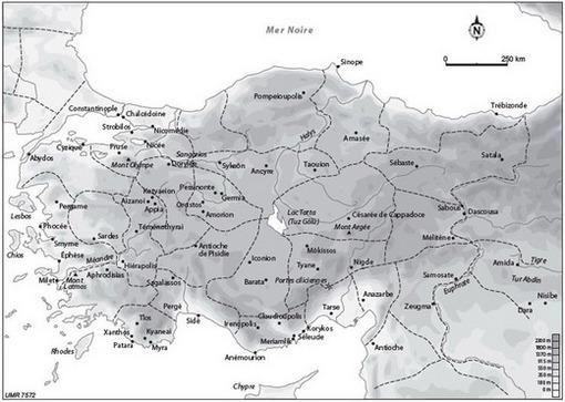 La Carte De Lasie Mineur.L Asie Mineure Cairn Info