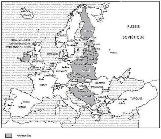 Carte De Leurope En 1919.Chapitre Vii 1919 1930 La Tentative De Construction D Une