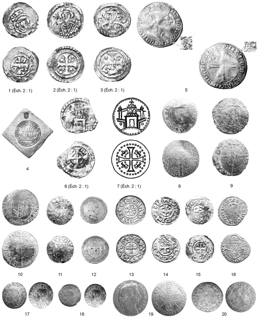 Métal Bouton Boutons 10 pièces argent 17,5 mm grand #1557#