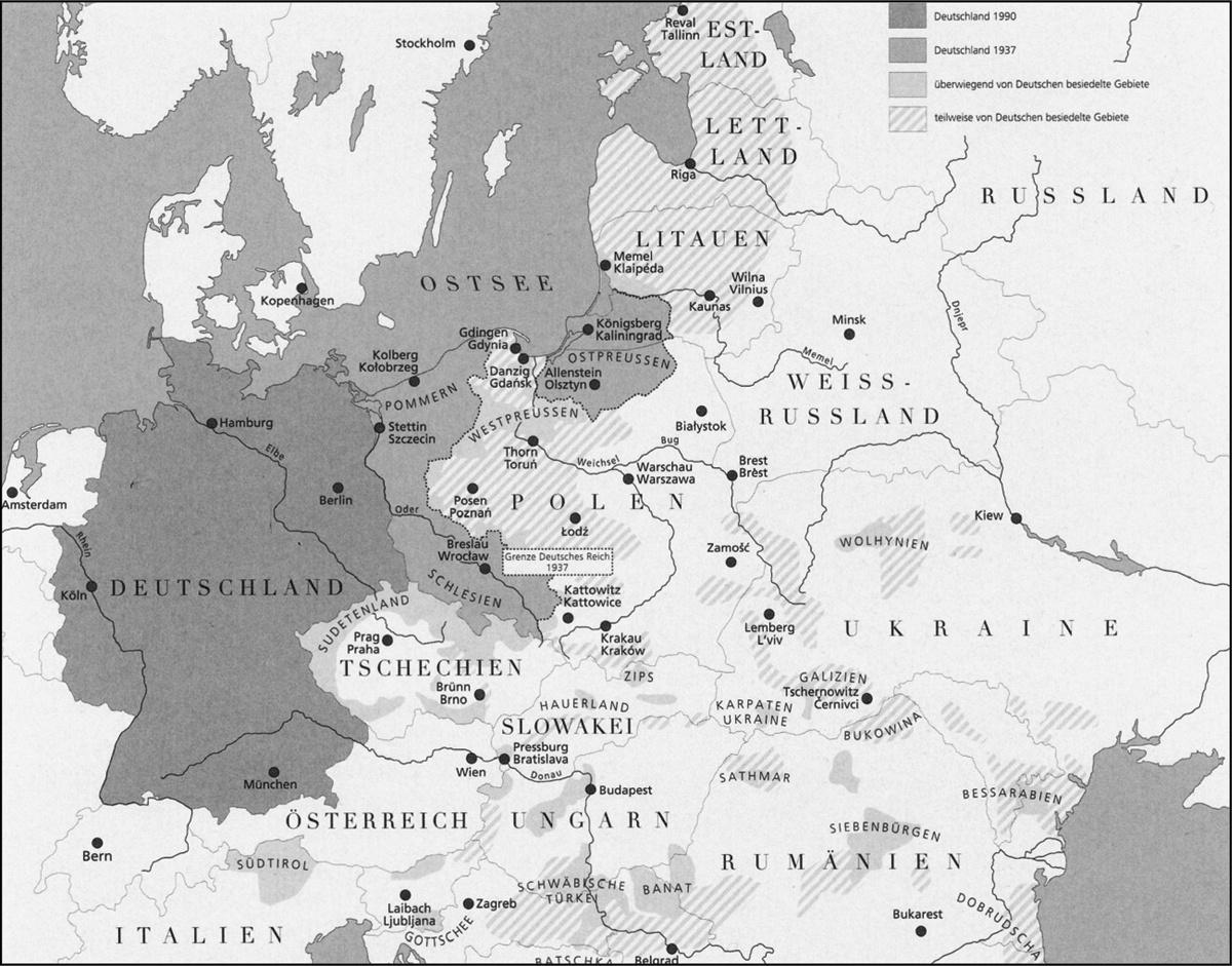 Carte Allemagne Occupee 1945.L Imaginaire Cartographique De L Est Allemand Dans Les