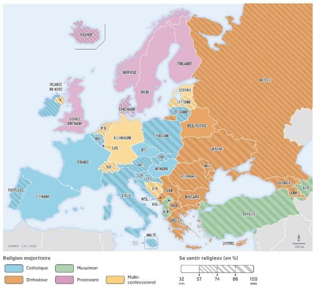 Carte Du Monde Des Religions.La Transmission Des Pratiques Et Croyances Religieuses D Une