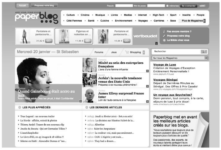27f3a581cfb Page d accueil de Paperblog.fr (janvier 2010)