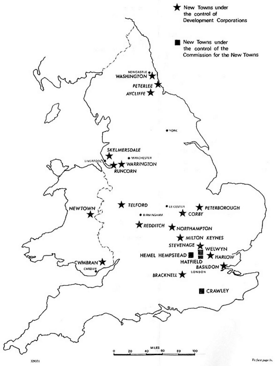 Map Of Wales And England With Towns.The English New Towns Since 1946 Cairn Info