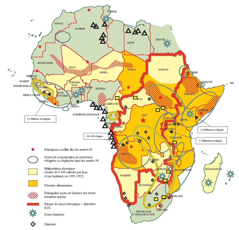 Carte Afrique Ressources Naturelles.L Economie Des Conflits En Afrique Cairn Info