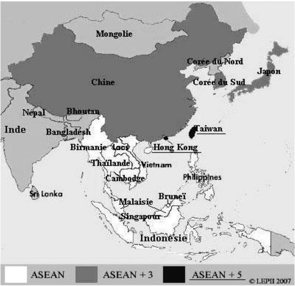 Carte Geographique Asie Pacifique.Vers Une Typologie Des Processus Regionaux Le Cas De L Asie
