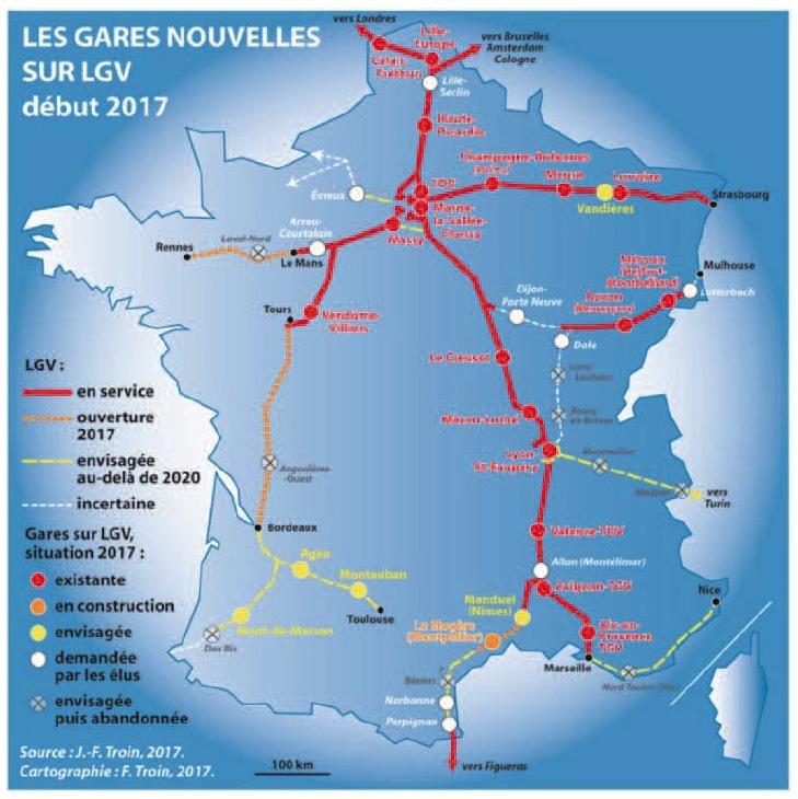 Carte de France TGV