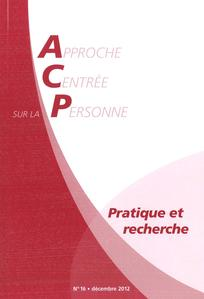 Approche Centrée sur la Personne. Pratique et recherche 2012/2
