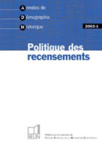 Annales de démographie historique 2003/1