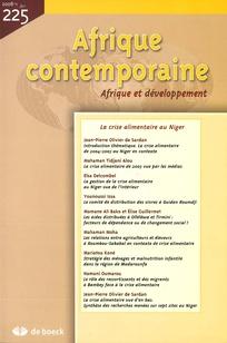 Afrique contemporaine 2008/1
