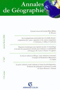 Annales de géographie 2006/1