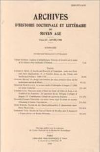 Archives d'histoire doctrinale et littéraire du Moyen Âge 2006/1