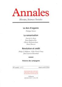Annales. Histoire, Sciences Sociales 2004/2