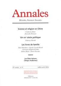 Annales. Histoire, Sciences Sociales 2004/4