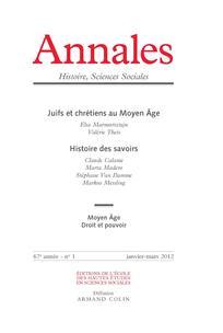 Annales. Histoire, Sciences Sociales 2012/1
