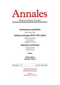 Annales. Histoire, Sciences Sociales 2013/1