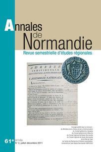 Annales de Normandie 2011/2