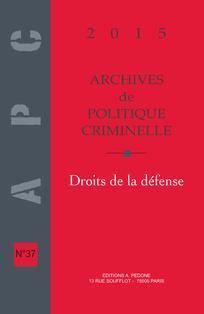 Archives de politique criminelle