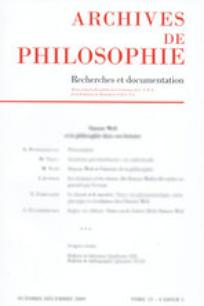 Archives de Philosophie 2001/2