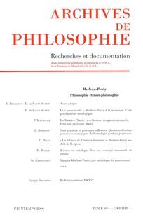 Archives de Philosophie 2006/1
