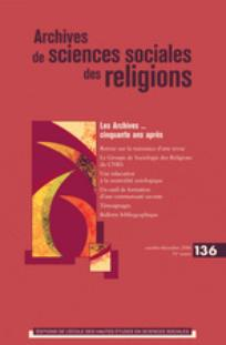 Archives de sciences sociales des religions 2006/4