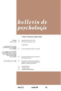 Bulletin de psychologie 2009/3