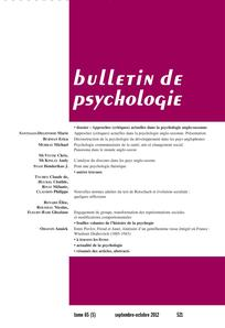 Bulletin de psychologie 2012/5