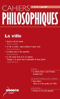 Cahiers philosophiques 2009/2