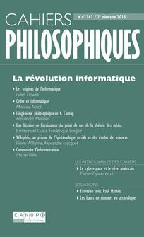 Cahiers philosophiques 2015/2