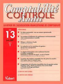 Comptabilité - Contrôle - Audit 2007/1